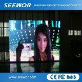 Visualizzazione di LED fissa dell'interno di alluminio di fusione sotto pressione dell'installazione di SMD1515 P3mm per fare pubblicità