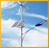 Réverbères allumés actionnés par le vent solaires