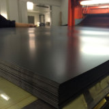 Rullo di plastica nero glassato rigido dello strato del PVC dai 300 micron per stampa dello schermo