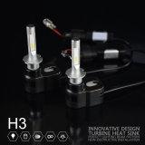 T5 H3 LED 헤드라이트 높은 밝은 차 빛 LED 30W 4200lm 공장 가격을 냉각하는 Lmusonu 신기술 터빈