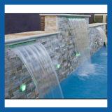 Cascata della piscina, caratteristica dell'acqua, fontana di acqua della parete