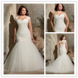 Mermaid Plus Size robe de mariée (XZ518)