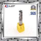 Moinho de extremidade de carboneto sólido / Precisão de alta precisão 4 Flute F183 Máquina CNC Smtcl