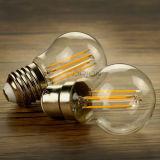 Bulbo caliente del filamento del blanco G45 4W E27 E14 LED para la decoración
