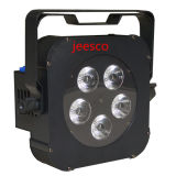 5PCS LED Batterie NENNWERT Licht 12W RGBW 4in1 für Partei-Verein-Konzert