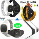 Le bracelet intelligent de bracelet neuf de Bluetooth 4.0 avec IP54 imperméabilisent W8