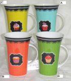 074-6055 Porzellan-Becher-Kuchen-Entwurf (074-6055)