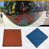Azulejo de goma del patio del juego, azulejo de goma cuadrado