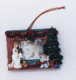 Cadre Photo Polyresin pendaison de Noël (WL6021D)