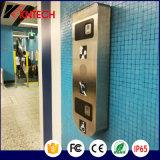Telefone Handsfree da ajuda do serviço público para o metro do aeroporto do metro