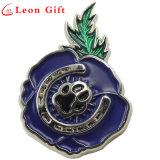 Logotipo da pata personalizada de fábrica Flor esmalte crachás de Pin de lapela