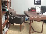 Cadeira de madeira do estudo do couro moderno italiano do estilo (C-52)