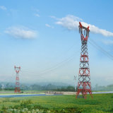 500kv 미사일구조물 단 하나 회로 머리 위 전송 탑
