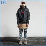 Напечатано черный пиджак моды и водонепроницаемая ткань