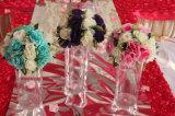 Vase acrylique à fleur décorative de pièce maîtresse pour la maison ou le mariage