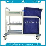 AG-Ss017b ISO-Cer-anerkannte preiswerte Edelstahl-Krankenhaus-Wäscherei-Laufkatze