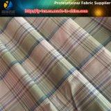 Tessuto del poliestere tinto filato di Aty con pelo molle Handfeeling per la camicia