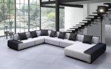Grand U sofa de tissu de forme du modèle européen moderne (HC573)