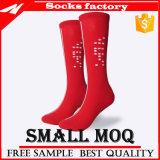 Mann-Frauen-Knie-hohe Komprimierung-Socken mit Nylon