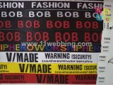 Rainbow Five-Pointed Star Jacquard Fashtion Nylon Webbing para acessórios de vestuário