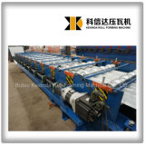Rolo vitrificado de alta velocidade da telha de telhadura do servo motor Kxd-828 que dá forma à máquina