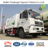14cbm Dongfeng Kinrun 유로 4 후방 선적 쓰레기 쓰레기 압축 분쇄기 트럭