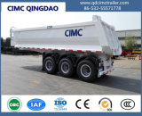 Cimc de U da forma 3 do eixo Cimc da descarga chassi do caminhão de reboque do caminhão de Tipper do reboque Semi