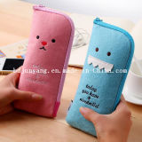 New Arrival Durable Cute Wool Felt Pencil Bolsa Bolsa Bolsa