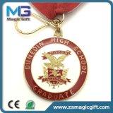 リボンが付いている熱い販売の鋳造のカスタム旧式な学校メダル