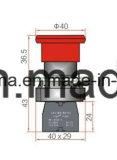 De Schakelaar van de Drukknop van het Type van Metaal van de Paddestoel van de spiebaan