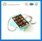놓이는 높은 호화스러운 우아한 가득 차있는 까만 매트 감각 초콜렛 포장 상자 (안 작은 종이상자에)