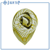 Écharpe célèbre d'impression de polyester de grand dos de trellis de marque