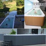 Super populaire piscine sans fin avec jacuzzi SPA pour marché