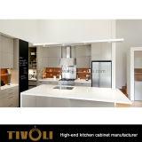 Gabinete feito sob encomenda branco liso da despensa da cozinha para Austrália Tivo-0266h