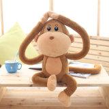 Assis brun singe mignon personnalisée OEM doux jouet en peluche