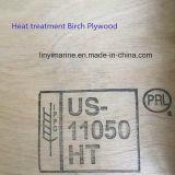 Contre-plaqué de bouleau avec la pente 2.7-21mm du traitement thermique C/D