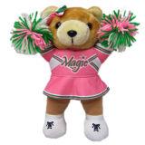 Orso sveglio personalizzato per l'orso sveglio della peluche di acclamazione nel basamento con il reticolo di acclamazione
