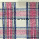 Tela rosada de las lanas de la verificación para el sobretodo