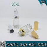 Lle estetiche uniche della 1 dell'oncia 30ml del poligono bottiglia di vetro della radura con lo spruzzatore della pompa