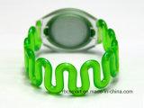 Wristband di Silicone/ABS RFID per il braccialetto impermeabile di elasticità di sauna CI