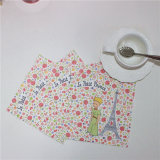 Vente en gros Eco-Friendly Disposable Colorful Printing Paper Napkin