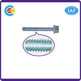 GB/DIN/JIS/ANSI Kohlenstoffstahl/galvanisierte Flansch-Schrumpfschraube des Edelstahl-4.8/8.8/10.9