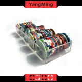 46мм 5 ряда глиняные покер казино плавающего режима микросхемы выделенной прозрачным акриловым микросхемы случае Ym-CT11