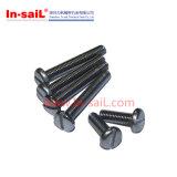 Прорезанные ISO1580 винты головки лотка DIN85