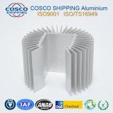 La competencia con el perfil de disipador térmico de aluminio anodizado plata y mecanizado