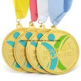 다채로운 리본을%s 가진 주문 달리기 포상 스포츠 메달