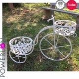 Crisol blanco /Stand del plantador de la bicicleta