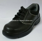 Black PU Injection Outsole Safety Worker Shoes