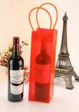 Sac fait sur commande recyclable de bouteille de vin de PVC d'impression de modèle neuf