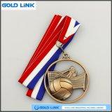 Souvenir creux de médaille de volleyball de médailles faites sur commande de récompense de sports